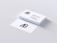 Modern business card psd mockup   anthony boyd graphics