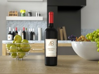 Wine bottle psd mockup preview 1   anthony boyd graphics