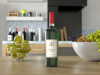 Wine bottle psd mockup preview 2   anthony boyd graphics