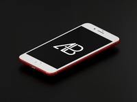 Product red iphone 7 plus mockup vol.3  white    anthony boyd graphics