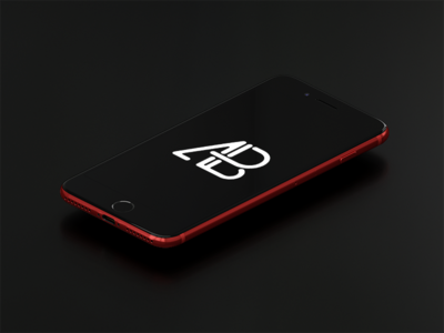 Product Red iPhone 7 Plus Mockup Vol.3