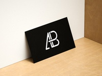 Modern horizontal and vertical business card mockup 1   anthony boyd graphics