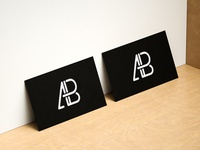 Modern horizontal and vertical business card mockup 2   anthony boyd graphics