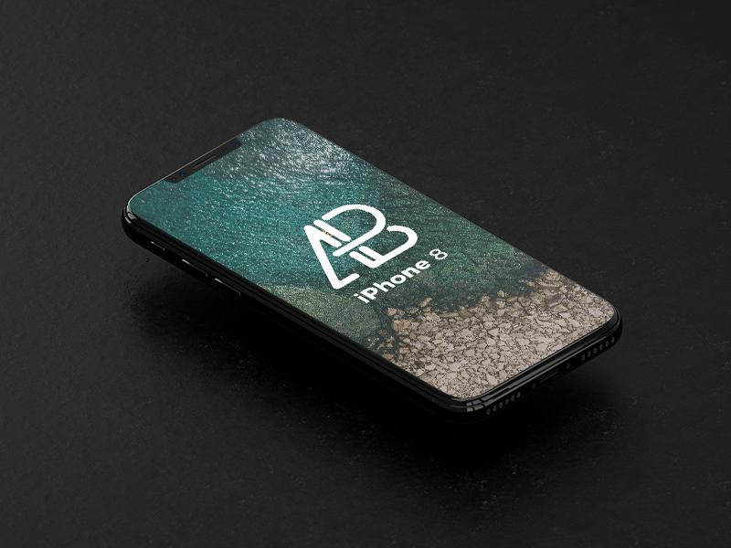 Isometric iPhone 8 Mockup