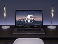 2017 macbook pro on desk mockup   anthony boyd graphics