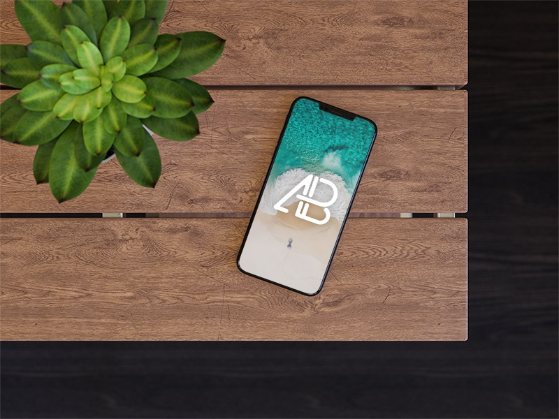 iPhone 8 On Table Mockup