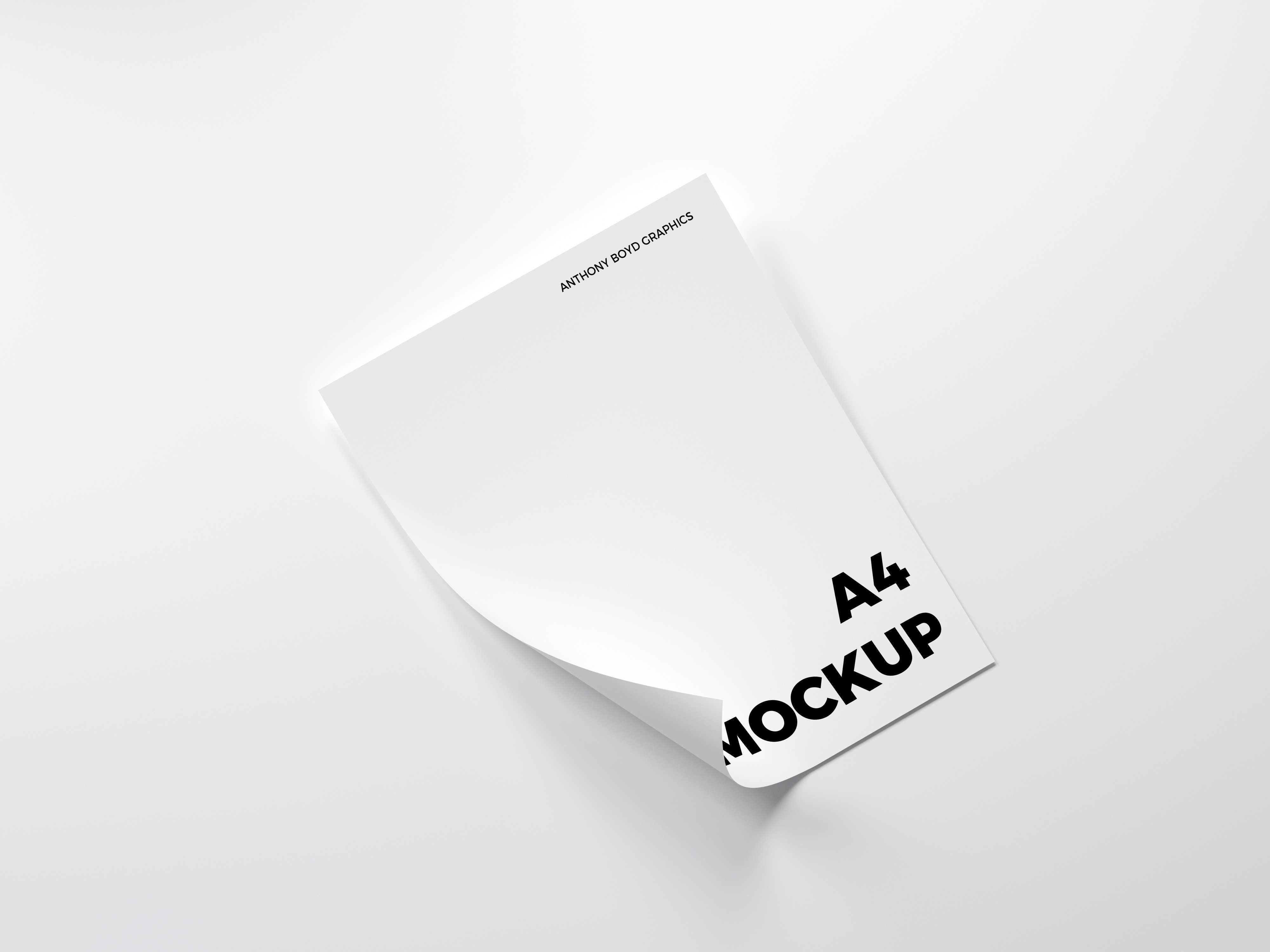 Folded a4 paper mockup   anthony boyd graphics