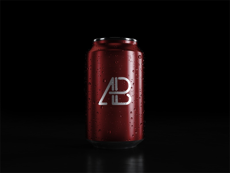 5k soda can with water drops mockup by anthony boyd graphics  3