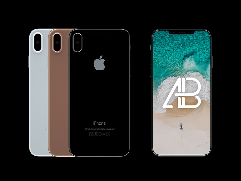 Premium iPhone 8 Front And Back View Mockup