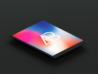 Isometric matte black ipad pro 10.5 mockup by anthony boyd graphics  1