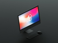 Isometric matte black imac pro mockup by anthony boyd graphics  1