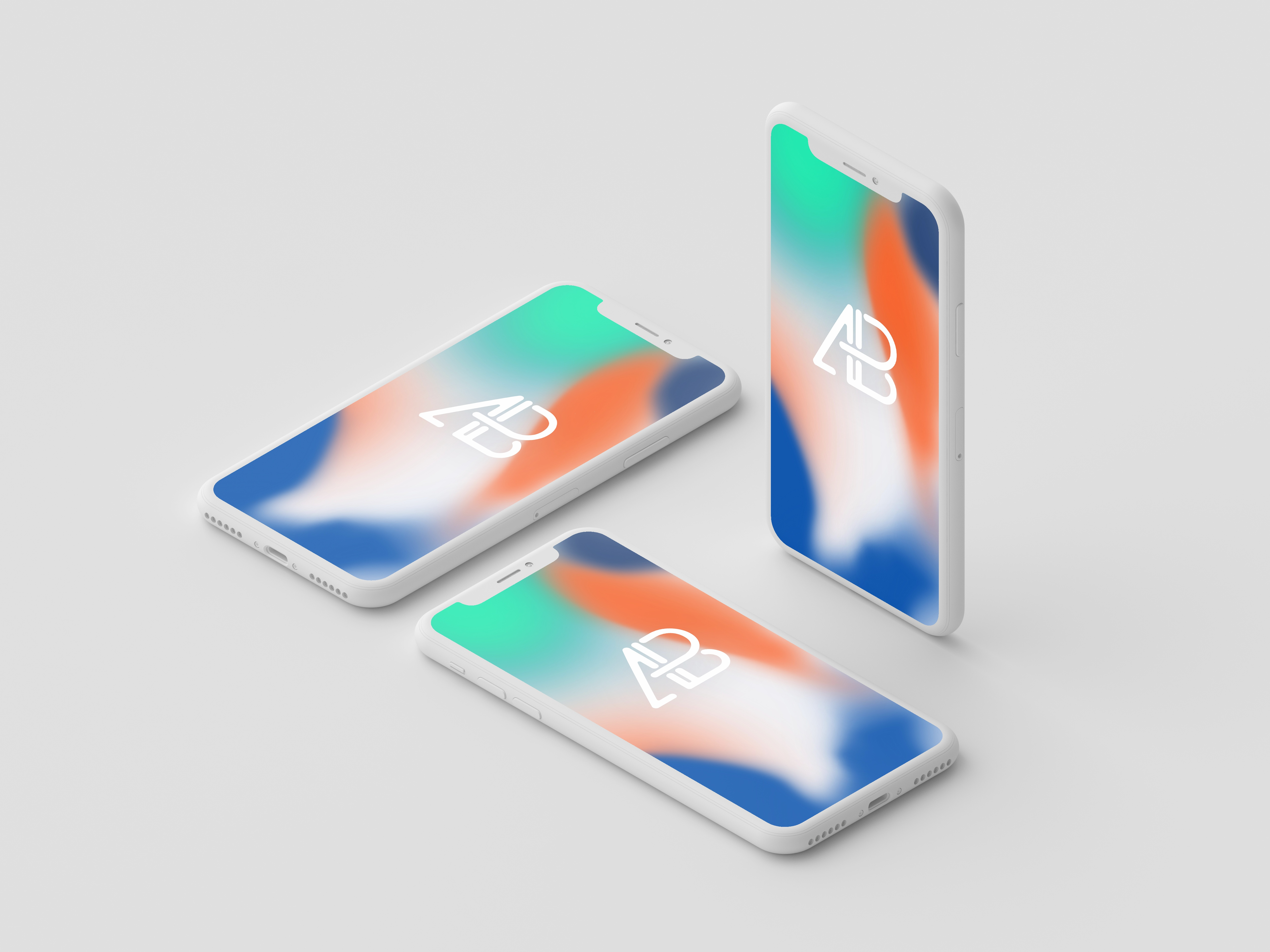 Clay iphone x mockup vol.2 by anthony boyd graphics  1