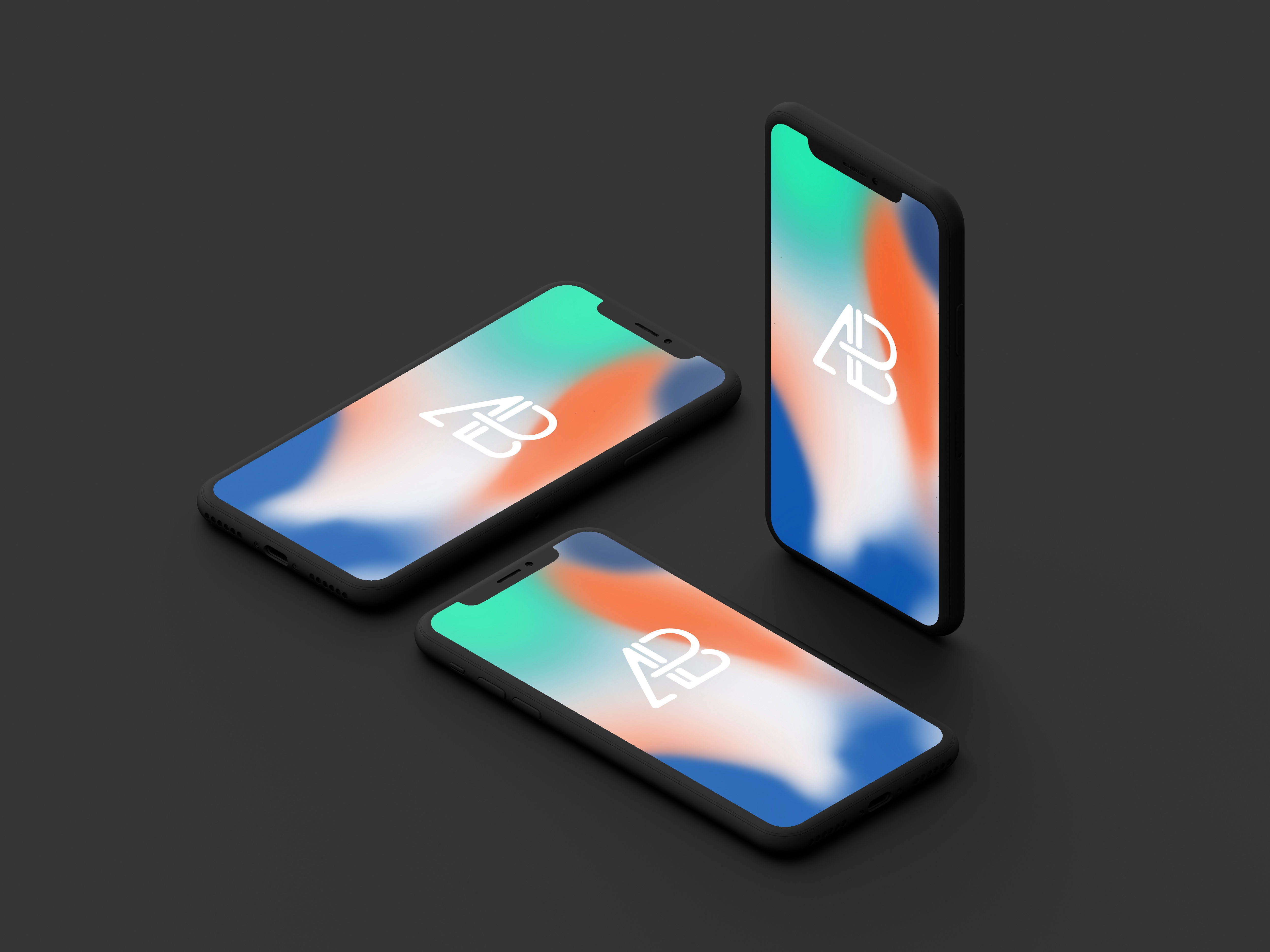 Clay iphone x mockup vol.2 by anthony boyd graphics  4