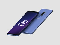 Floating Samsung Galaxy S9 Plus Mockup