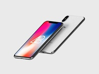 Floating iPhone X Mockup Vol.3