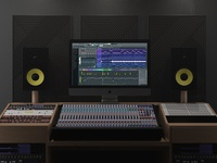 iMac Pro In Music Studio Mockup