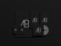 Black Foil Branding Identity Mockup