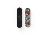 Front And Back Customizable Skateboard Mockup