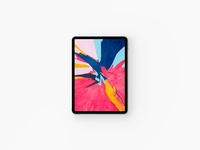 Top View iPad Pro 2018 Mockup