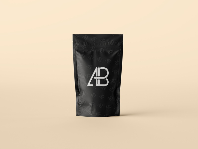 Pouch Bag Packaging Mockup logo branding freebie showcase psd free mockup bag pouch