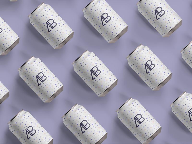 Matte Soda Can Top View Mockup realistic branding showcase free psd mockup can soda
