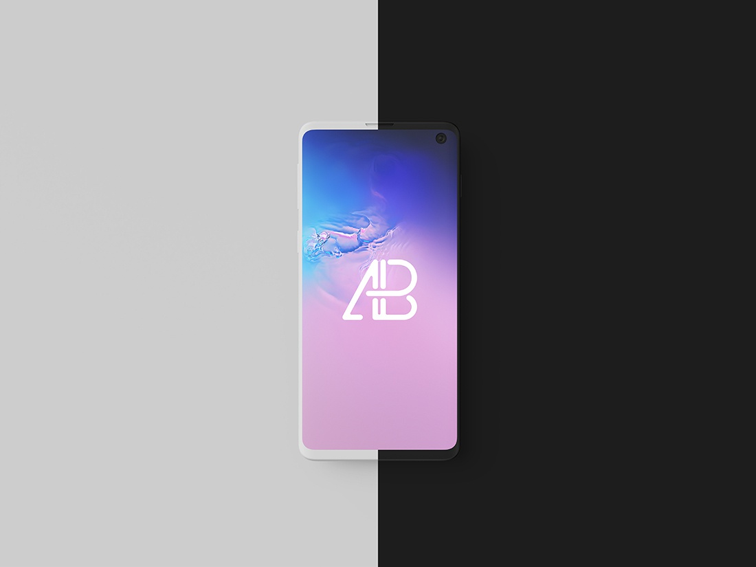 Clay Samsung Galaxy S10 Top View Mockup template psd free mockup smartphone galaxy s10 samsung clay