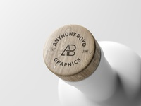 Matte Bottle Top Logo Mockup