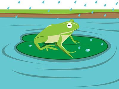 Frog and rain design vector illustration