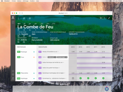 Ecological land survey electron app dashboard app survey ecology ecological ui