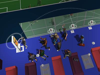 Futbak conceptual renderings quantified self futsal iot sport app sport