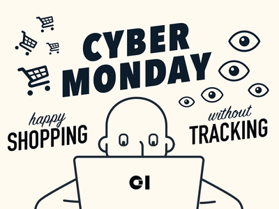 Data protection suite - social media spam tracking security privacy illustration cyber monday black friday
