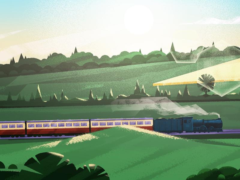 Train journey - animation background 03 visual art 2danimation motion design motionlovers illustration motiondesignschool mgcollective