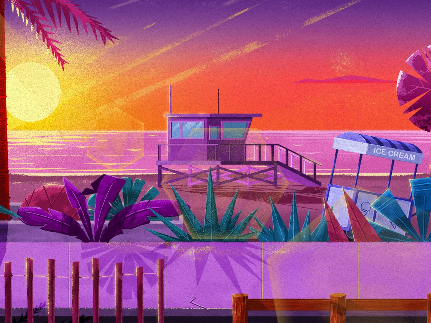 California Love 🌴☀️ roller skate motionlovers motion design photoshop background art aftereffects motiondesignschool mgcollective illustration 2danimation