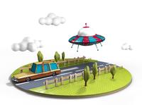 Flying Saucer Pusrsuit