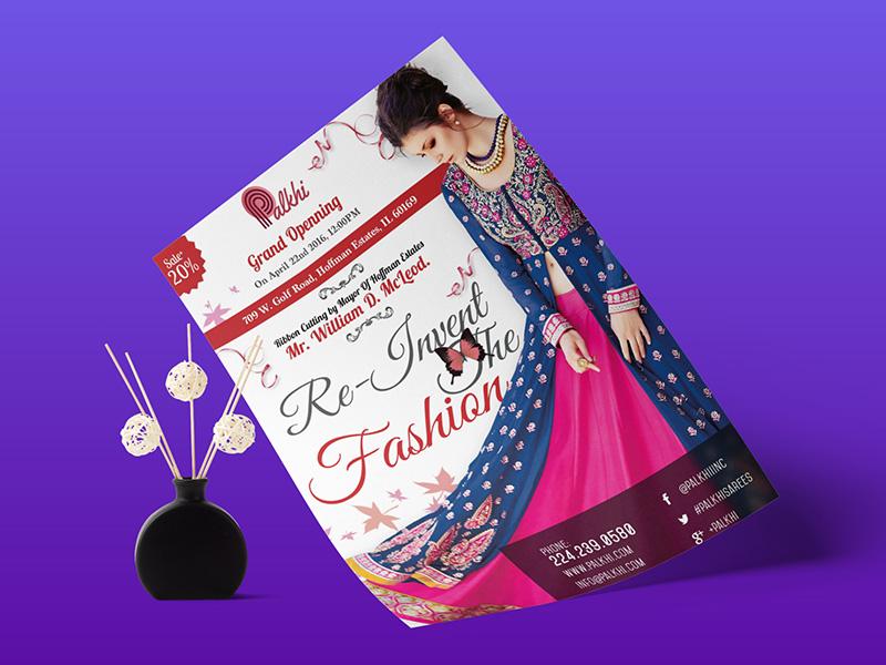 Palkhi.com Flyer graphics print design flyer design
