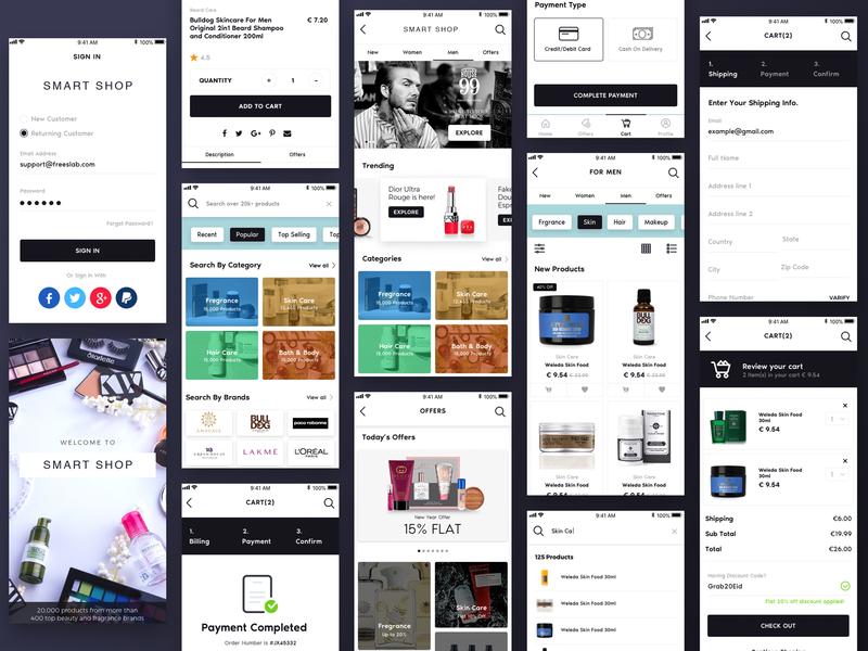 Smart Shop e-Commerce app sketch app ui ui design design ios app mobile app app design