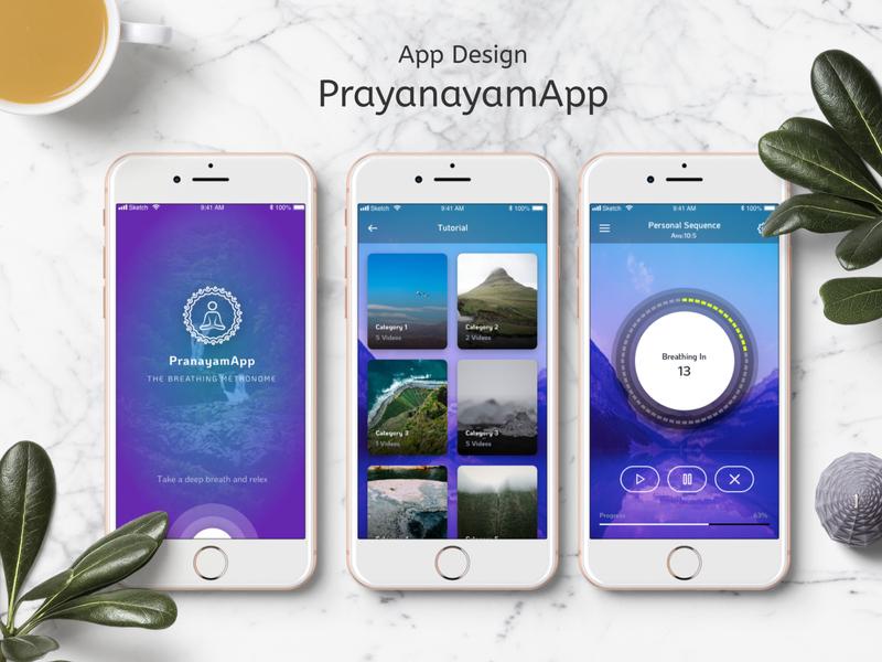 PrayanamApp sketch app mobile app design ui design graphics app design design mobile app