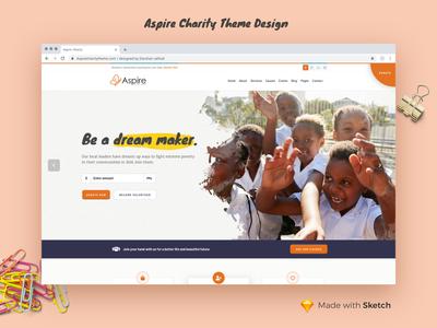 Aspire Charity Theme Design