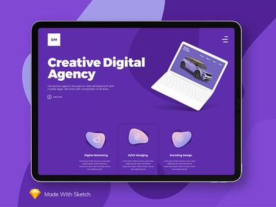 Digital Agency Website Concept