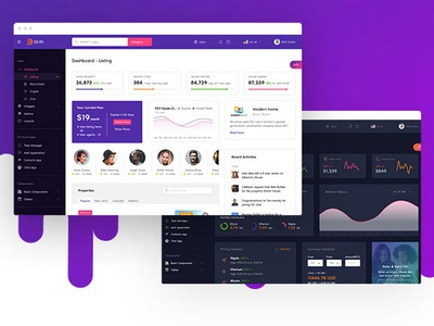 Drift - Admin Dashboard Template photoshop saas jquery html admin theme admin template