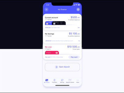 Banking app banking ux ux  ui bank account bank card bank app bank account ios finance app finance ui statement card card animation ui design banking app