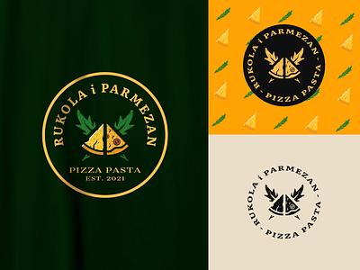 Arugula & Parmesan - Pizzeria Branding pasta local food logotype eating yellow arugula cheese parmesan rucola company identity food eat pizza pizzeria restaurant logo branding