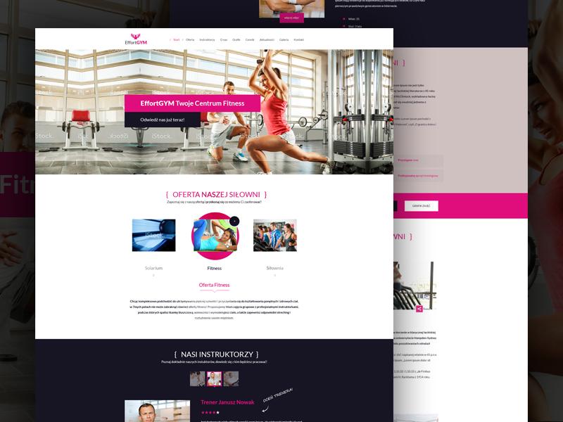Gym & Fitness team club company website training trainer effort pink fitness gym sport
