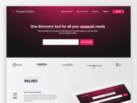 Landing page - researchably.com