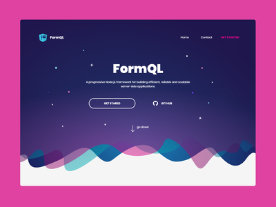 FormQL.com agency page product framework design form form ql landing page colourful website landing company