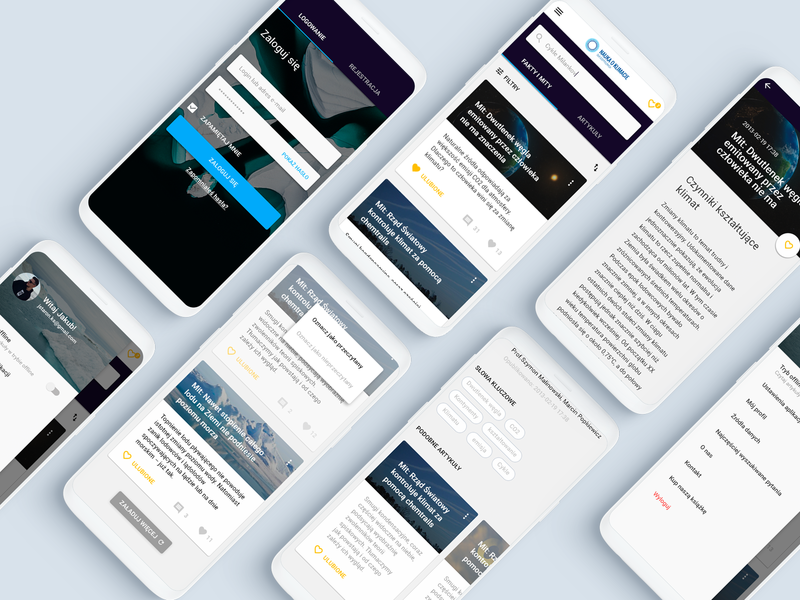 Climate News - concept app design material mobile science google material design ui ux articles application app news global warming climate