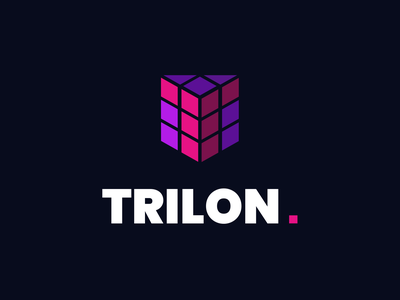 Trilon.io - Logo design rectangle triangle 3d square cube branding vector page identification signet logo trilon
