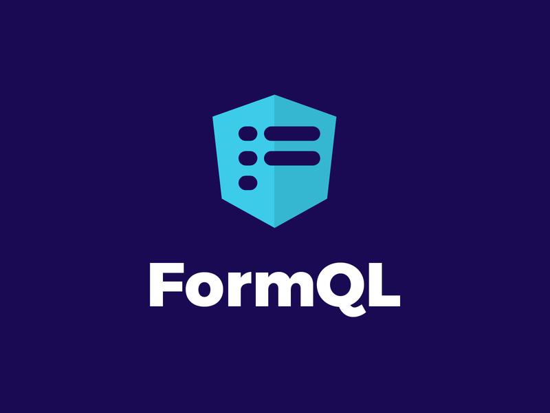 FormQL framework - The official logo startup logotype blue logo logo framework formql
