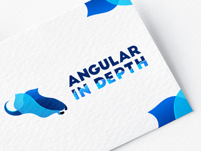 Logo - Angular In depth logodesign blue gradient diving water ocean design typography branding vector illustration in depth angular fish sea gradient blue ray manta logo animal logo