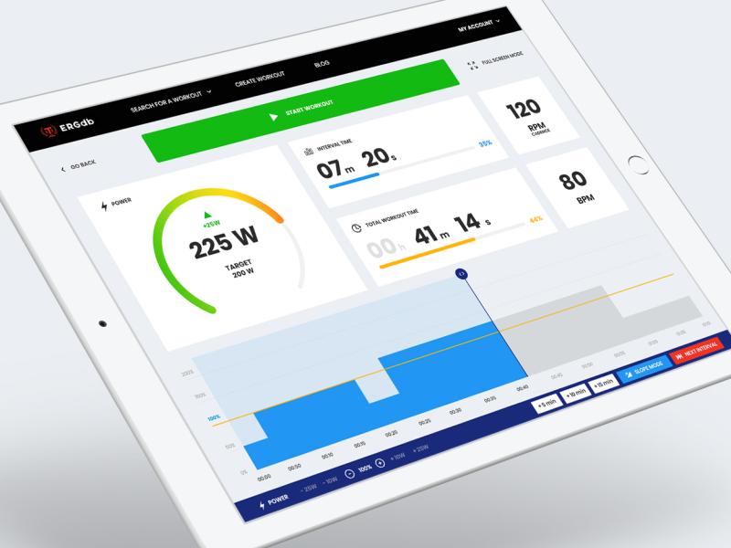 ERGdb.org - training web-app 🚲 fitness app fitness website dashboard template web-app dashboard app timer speed power counter chart sport trainer training workout ux ui panel dashboard